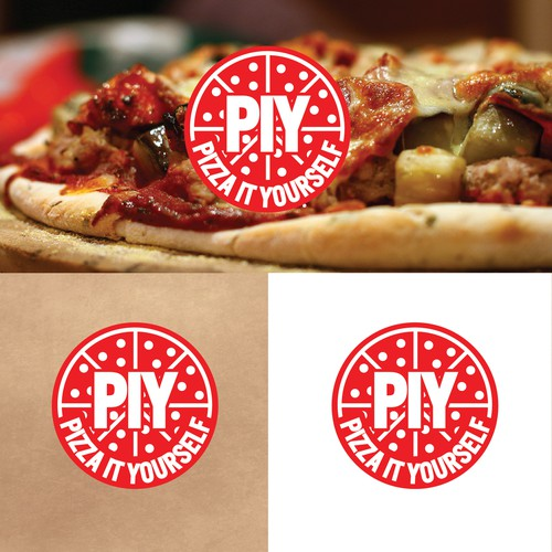 Logo concept for do-it-yourself pizza's at home