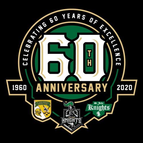St Jude knights 60th logo