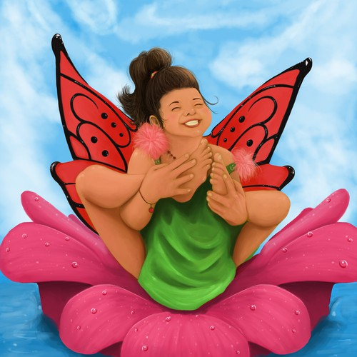 """Illustration for """"Amelia Rose's Amazing Toes"""" book cover"""