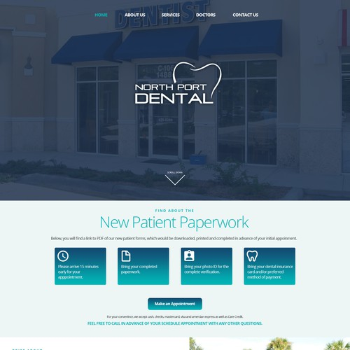 Northport Dental Landing Page Design