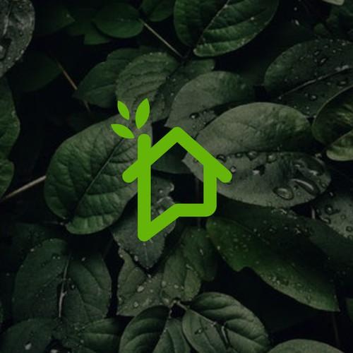 green house eco friendly logo