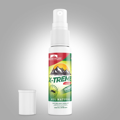 Insect repellent label design