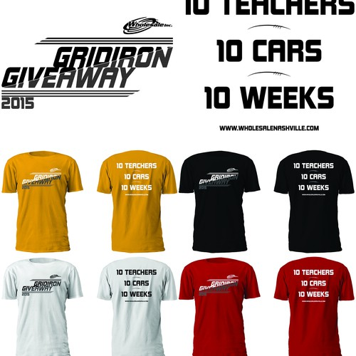 Promotional T-shirt to be given away at HS Football games