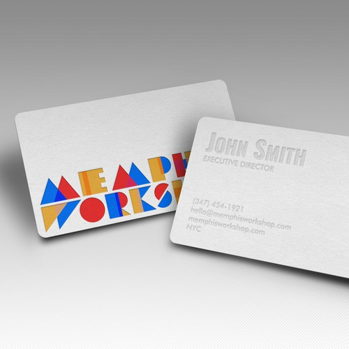 Blind Letterpress Business Card