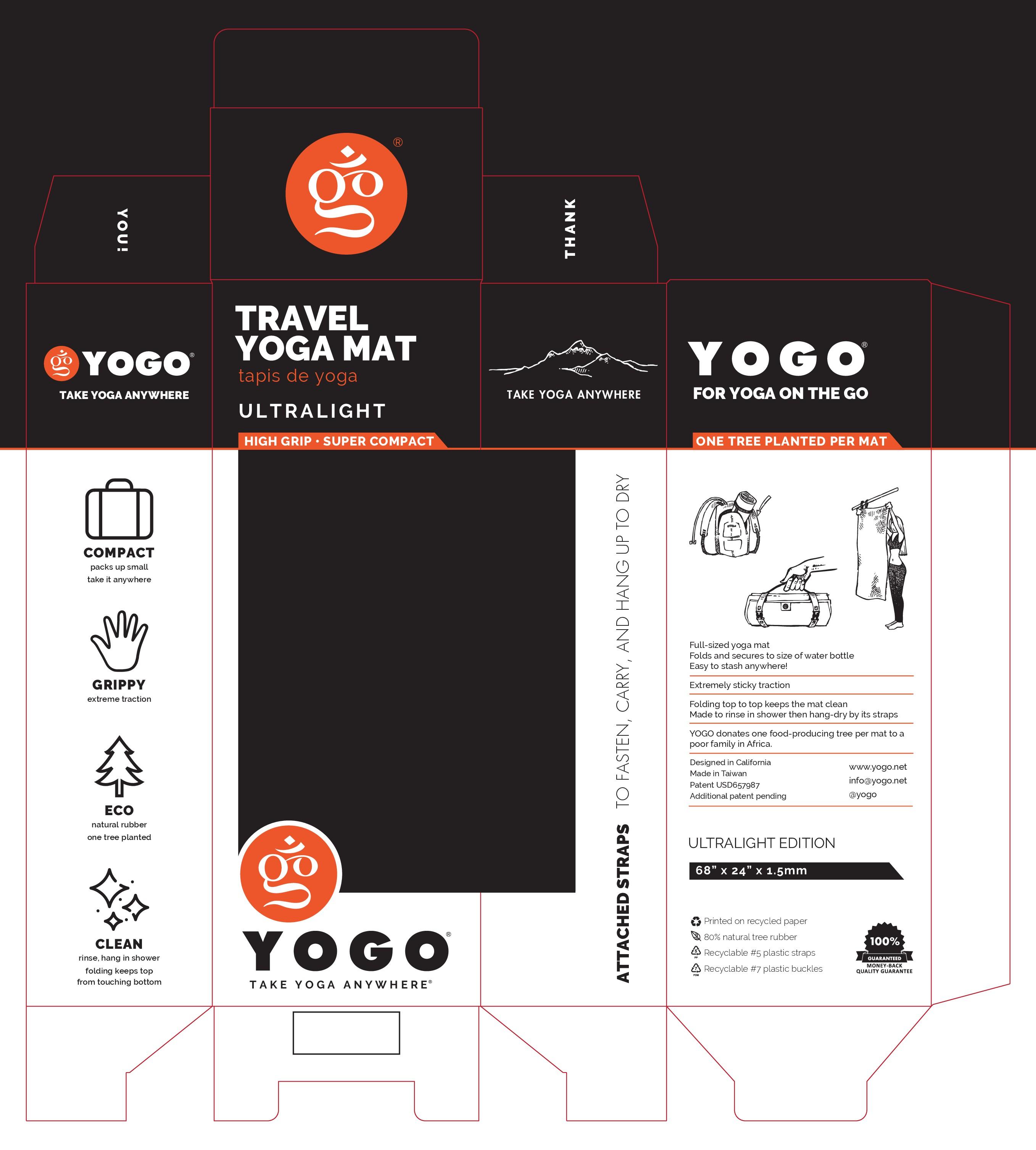 Redesign travel yoga mat box