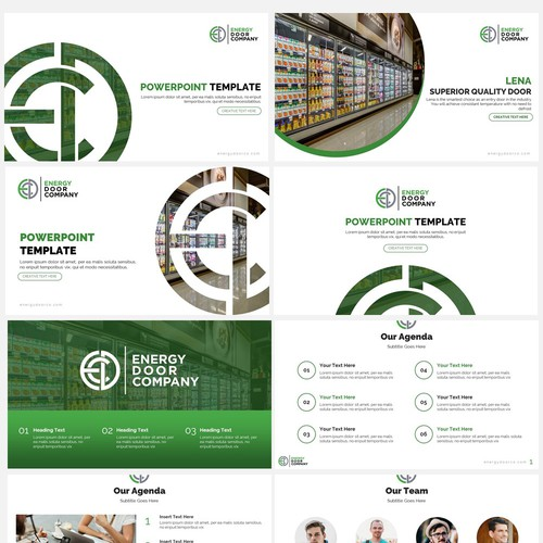 Powerpoint Template for Energy Door Company