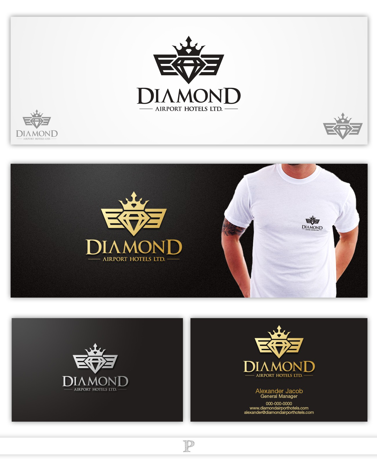 Create the next logo for Diamond Airport Hotels Ltd.