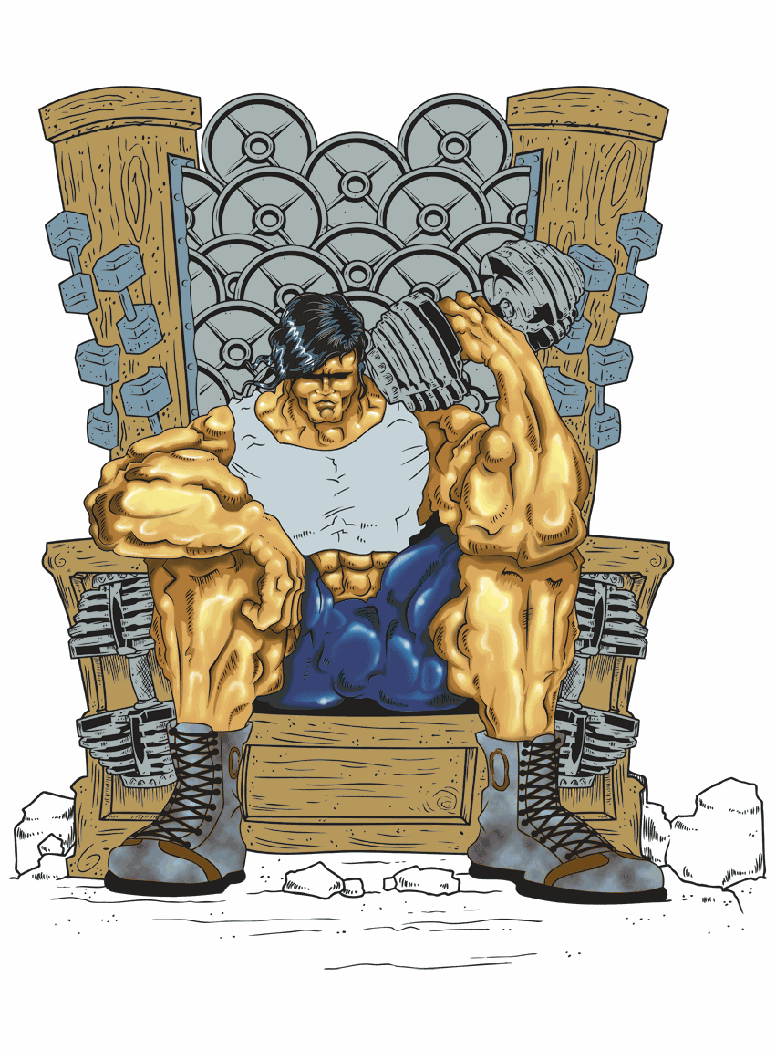 Create T-shirt design for Throne Of Steel