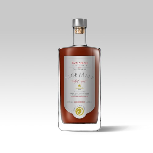 Sloe Malt Label