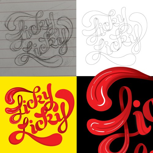 Lettering design for CD cover