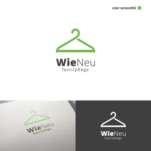 Design logo for the company Wie Neu Textilpflege