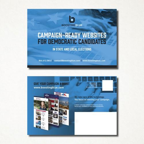 Boosting Blue Postcard/Flyer