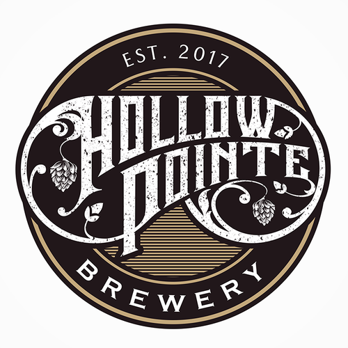 Vintage logo for Hollow Pointe Brewery