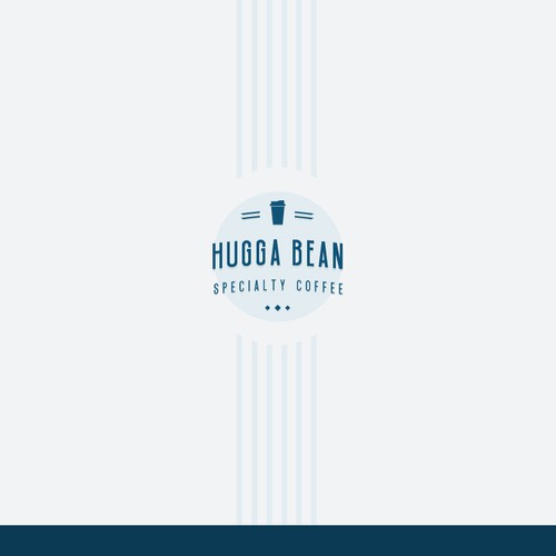 Logo for Hugga Bean Drive Thru Specialty Coffee with a Natural & Retro style