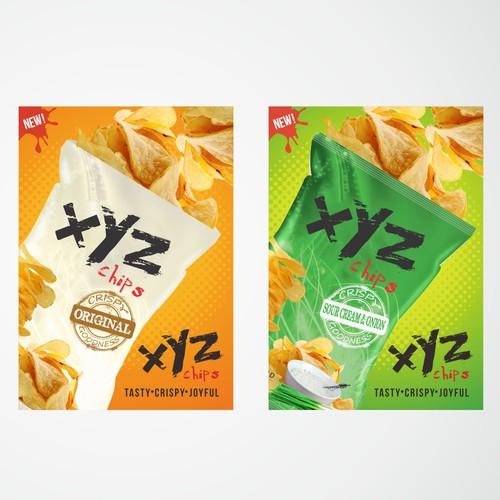 Poster for potato chips