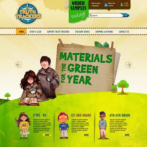 Website Design for Ecommerce Business - Children Books and Awards Retailer