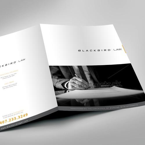 Creat a modern brochure for a modern law firm!