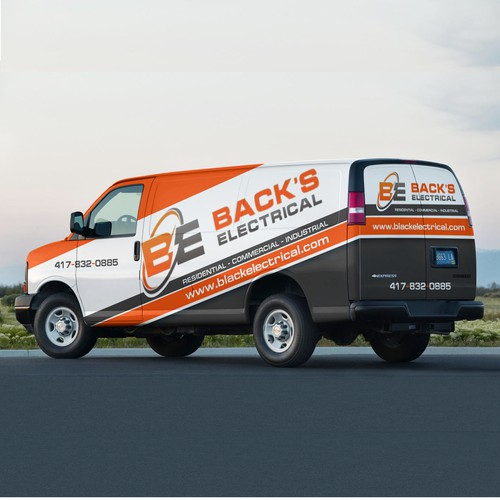 Backs Electrical Van Wrap