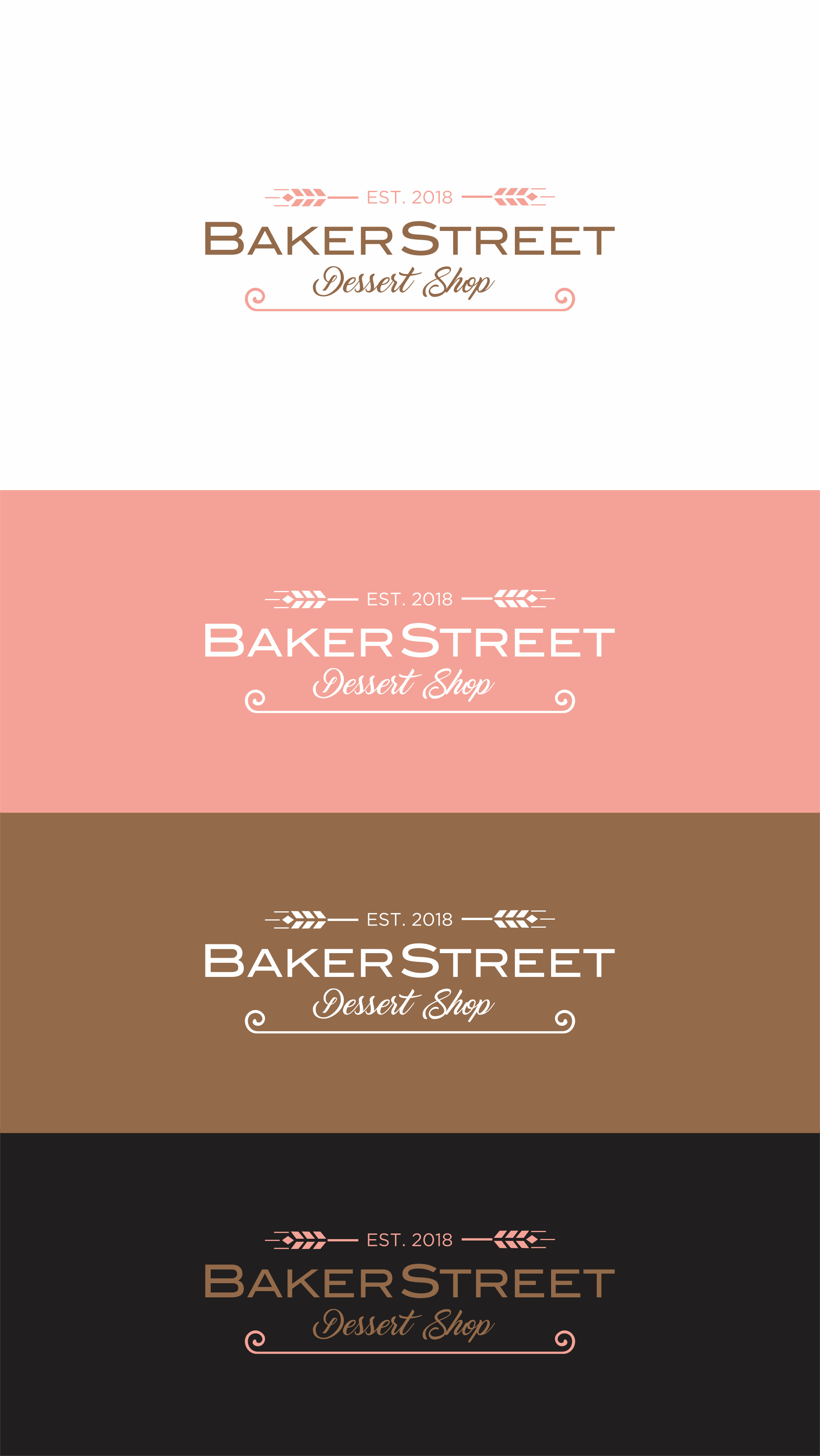 Logo for a new french pastry/dessert shop
