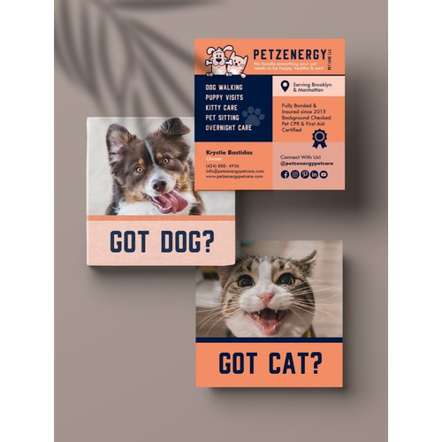Business Card for Pet Care Business