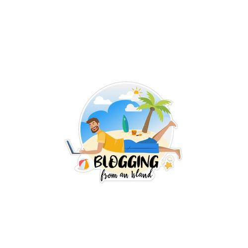 Island-themed logo for a blog