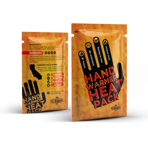 Hand Warmer packaging design