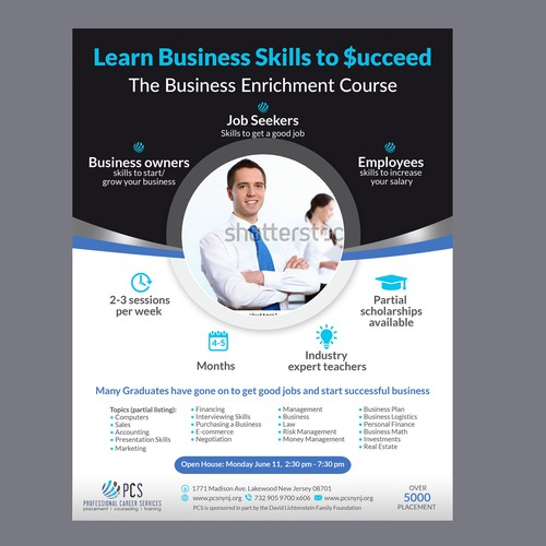 Business Enrichment Course Flyer