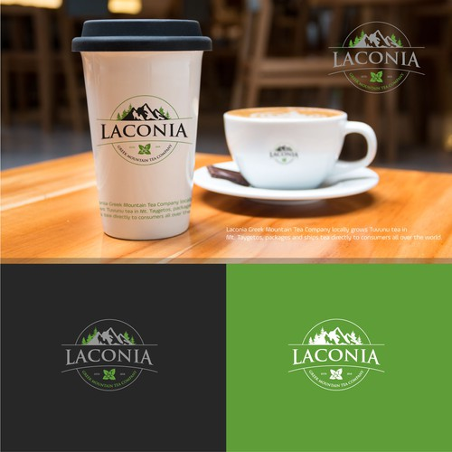 Badge design concept for Laconia Greek Mountain Tea company.