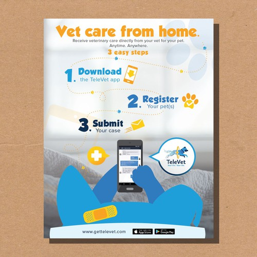 Flyer for vet mobile app