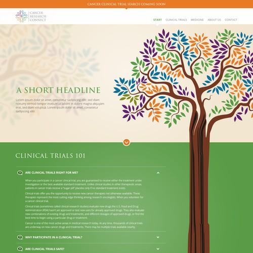Web design for Medical Research Program