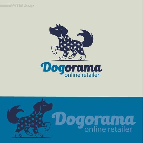 dog simple mascot logo