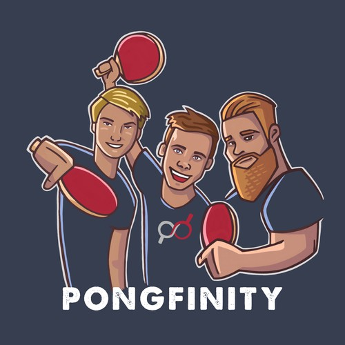 "Artwork for Youtube vloggers ""Pongfinity"""