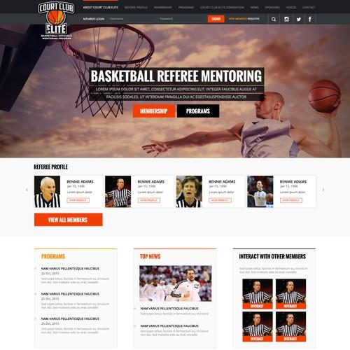 """Winning logo """"Court Club Elite""""website design"""