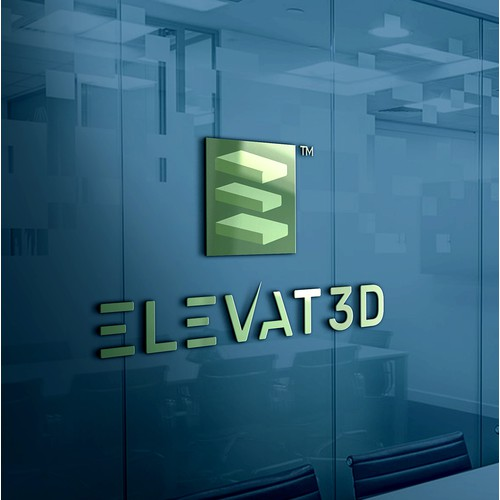 3D printing components Business Logo.