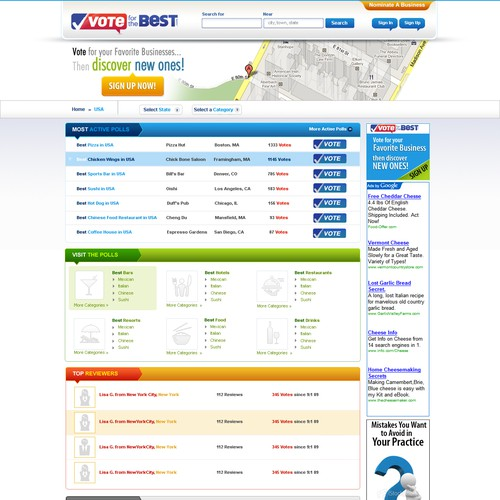 VotefortheBest.com Website Design