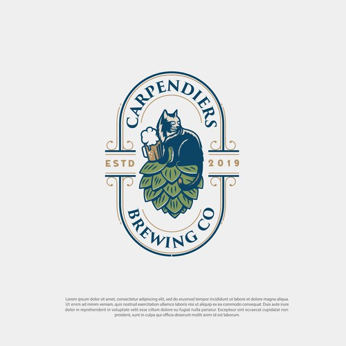 vintage logo concept for Carpendiers Brewing Co