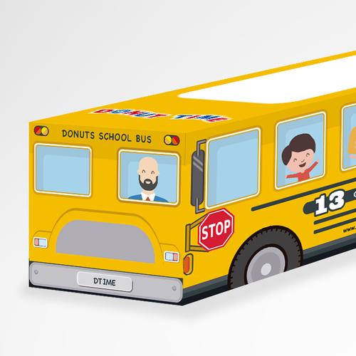 Donut Time Bus Box