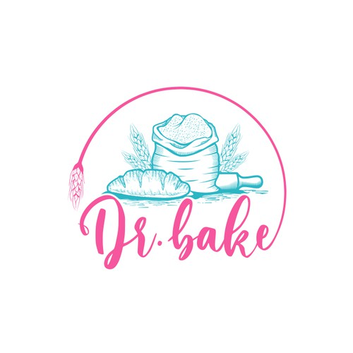 Logo concept for Dr. Bake