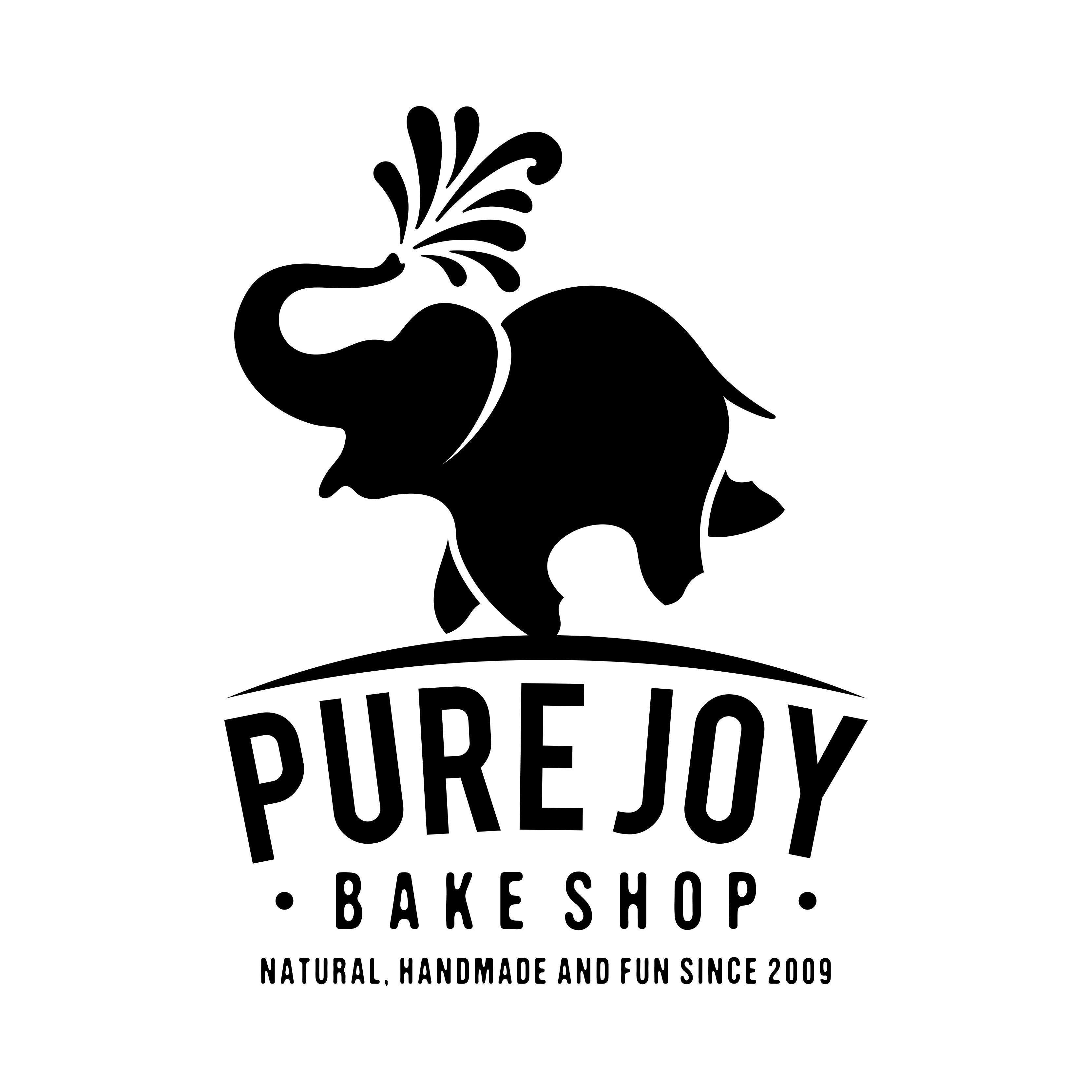 Pure Joy Bake Shop logo design