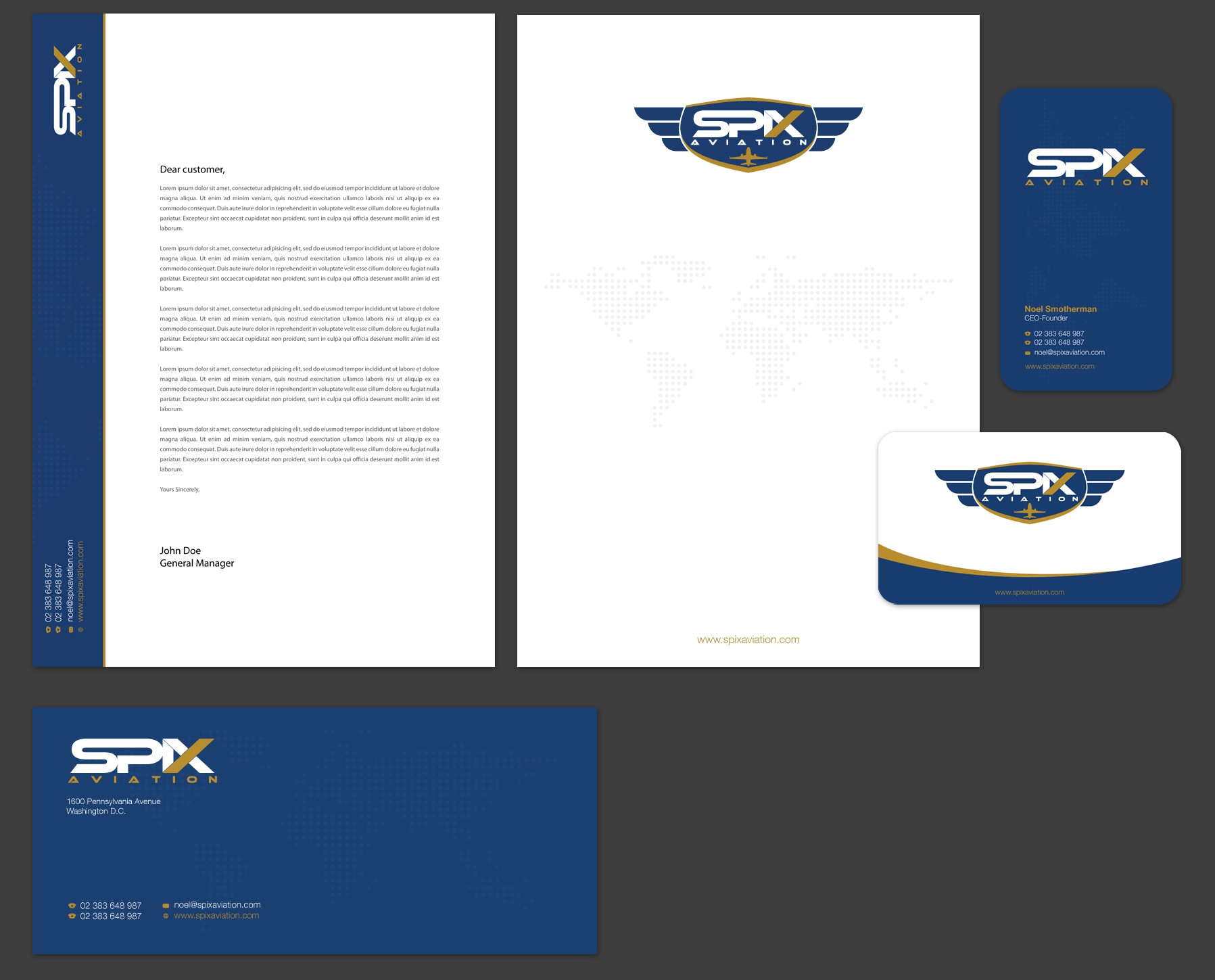 New stationery wanted for SPIX Aviation