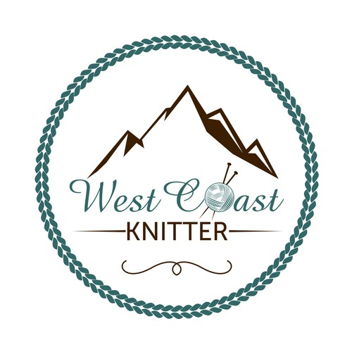 Create an inspirational logo for an outdoor lifestyle and knitting blog