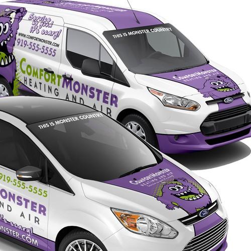 Comfort Monster Vehicle Wrap