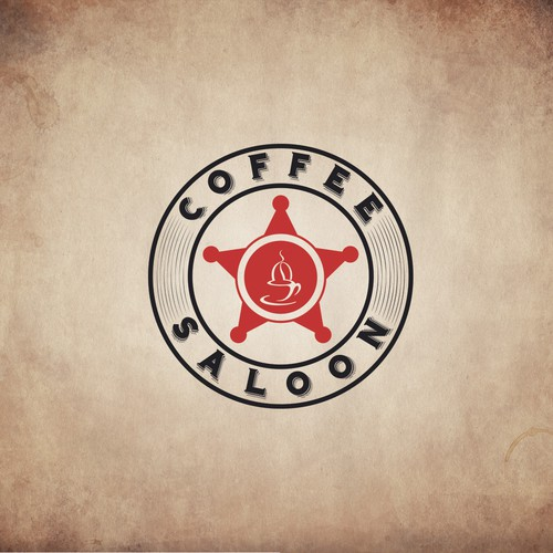 A circular logo based on a shotgun cartridge or branding iron to represent cool coffee brand