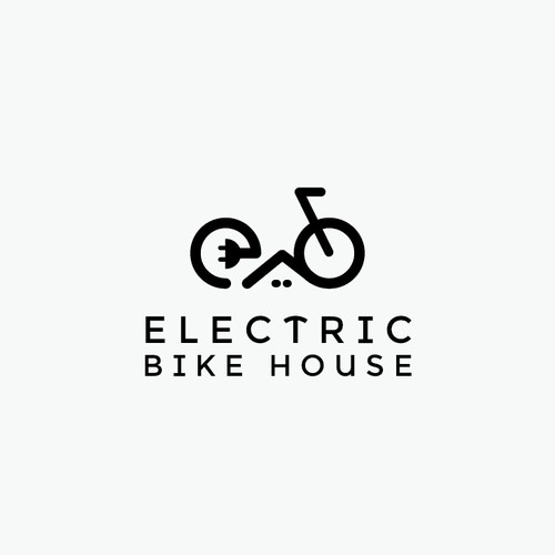Electric Bike House Logo Concept
