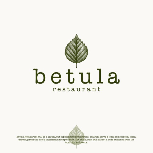 Logo design for Betula Restaurant