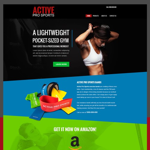 Active Pro Sports Website landing page