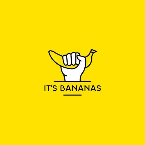 it's bananas logo concept