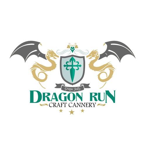 Logo for Dragon run Craft Cannery