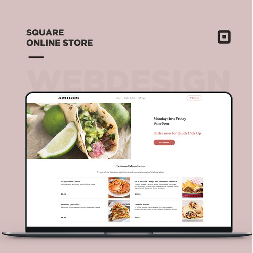 Square online store for a quick-service restaurant