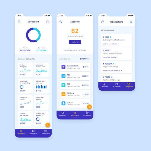 Innovative Design Needed for IOS Accounting App